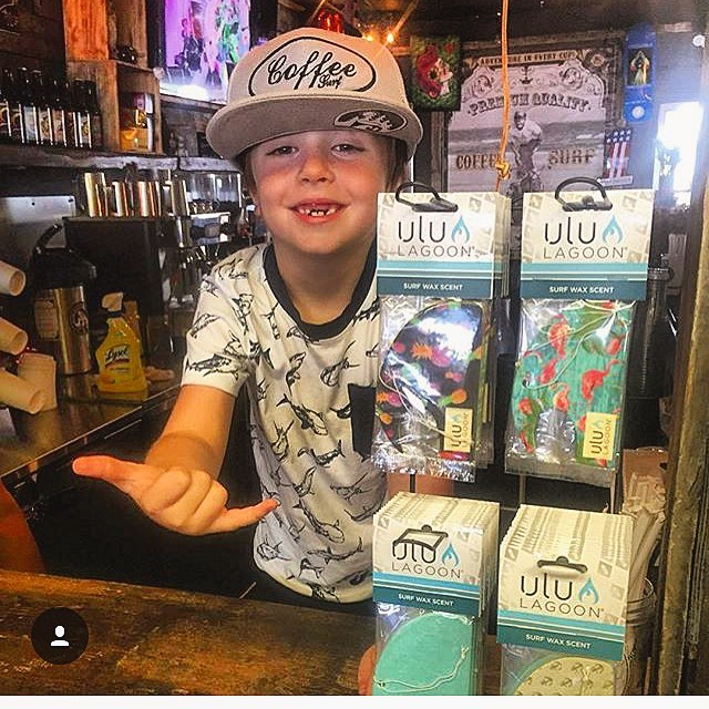 Hope you're hanging loose this Labor Day Weekend with ulu LAGOON! #LDW Wyly likes is it!  Pick up some unreal cold brew #coffee and surf wax scented mini waves @coffeesurfco and say hi to Barry and junior here while getting all of your essentials for a...