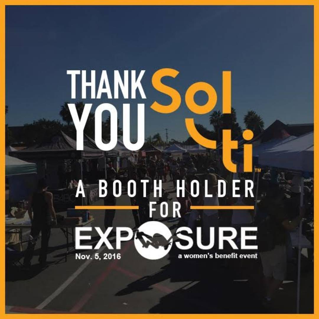 Thank You to Solti, who will be holding down a booth with us this year at EXPOSURE! @drinksolti uses UV Light Filtration Technology to harness energy from the Sun, producing a refreshing and natural beverage- made from organic, locally grown, and...