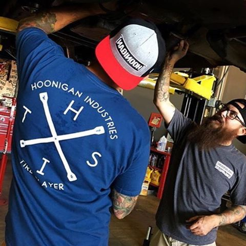 The HITS 16 tee and Rearview snapback now available at #hooniganDOTcom and @tillys #donutgarage #knucklebusters