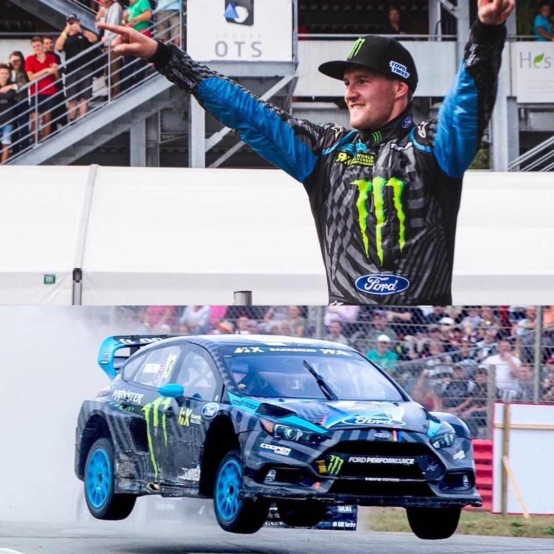 Congratulations to Hoonigan Racing Team's @andreasbakkerud for taking P2 at @fiaworldrx #LoheacRX (his 4th podium in a row - with 2 wins and 2 P2 finishes in the last 4 rounds)