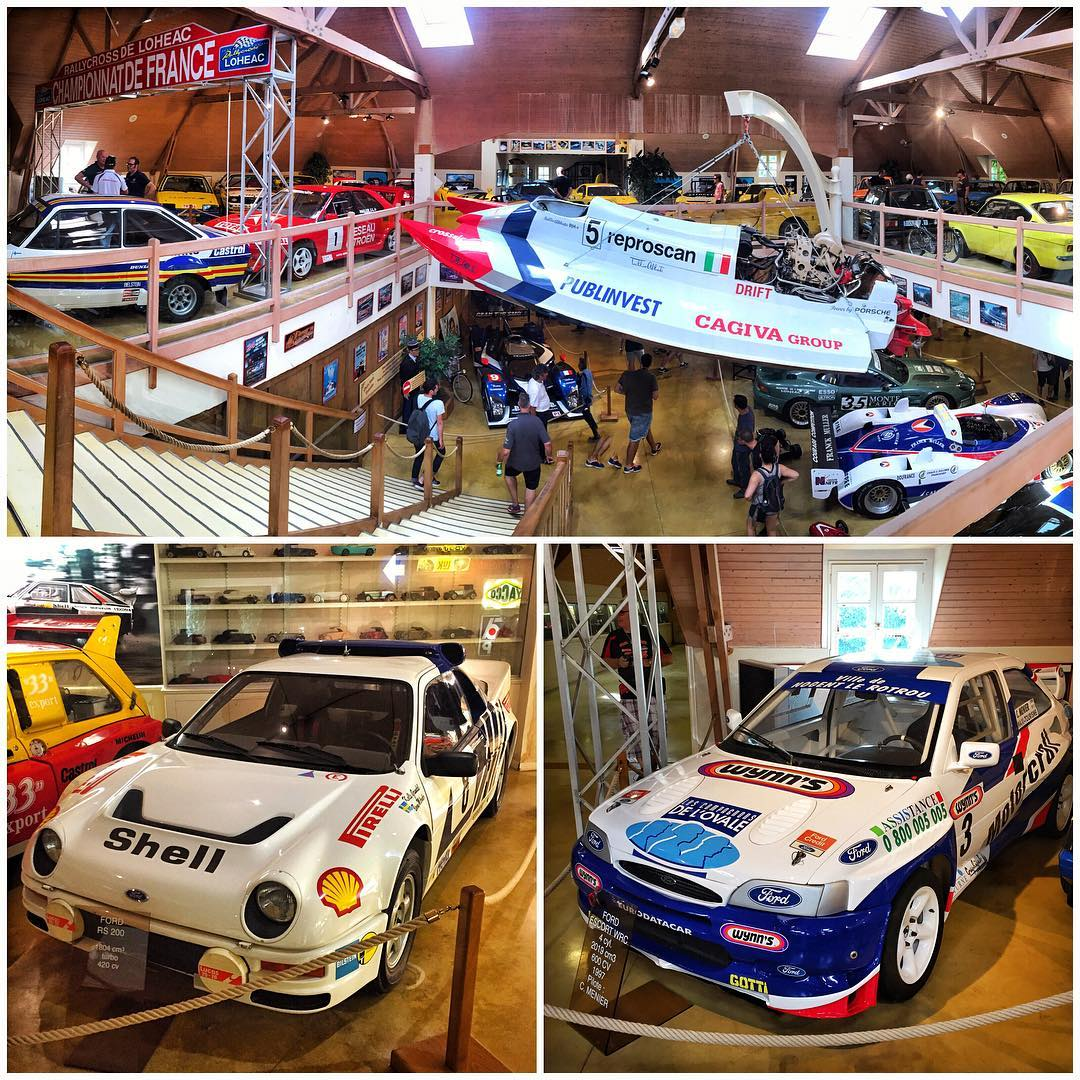 As far as vehicle museums go at race tracks around the world, the one here at the #LoheacRX facility is one of the wildest I've ever seen. Group B rally cars, rallycross Fords, Speedboats(!!), Le Mans cars, a full Formula 1 field, and much more. So...