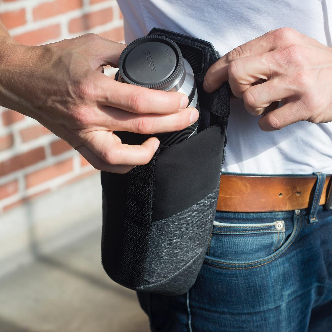 Hold lenses without looking silly. Range Pouch from Peak Design, available for preorder on our Kickstarter campaign (link in profile!). #pdkickstarter16 #findyourpeak