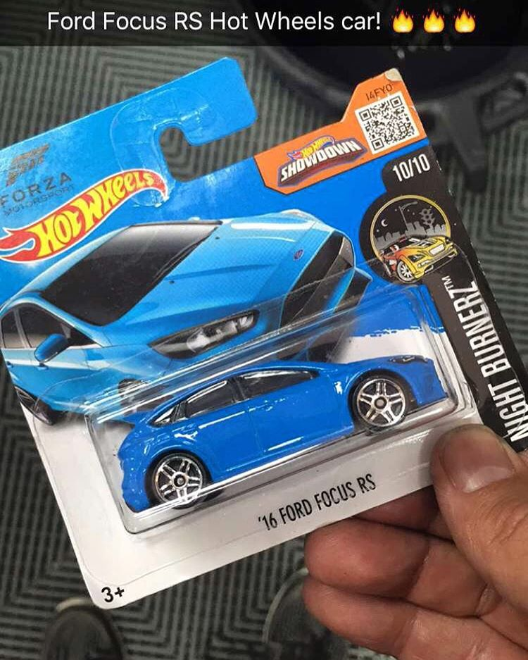 Best fan gift I received here at #LoheacRX this past weekend: a Ford Focus RS Hot Wheels car. I had no idea these existed until yesterday - rad!! Just needs Turbomacs and Toyos now. #bestfans #kidatheart #FordFocusRS