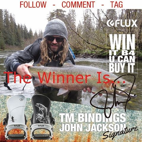 Congratulations Dustin @nwdaddy John Jackson @johnjamun selected you to win his pro model Flux TM Bindings before you can buy them. We hope you will enjoy your new binders! If you didn't win, don't worry, Flux will have monthly contests kicking off in...