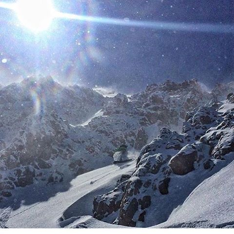 @youngdorian is still chasing cold smoke and #nextlevelvibes with Alejo Sanchez in South America.  Photo taken yesterday. #AVALON7 #liveactivated #snowboarding #orb #inspiredstate www.a-7.co