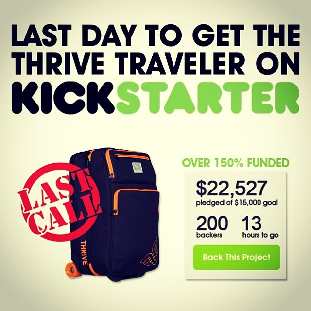 There is only 12 hours left to get in on our Thrive Traveler Kickstarter!