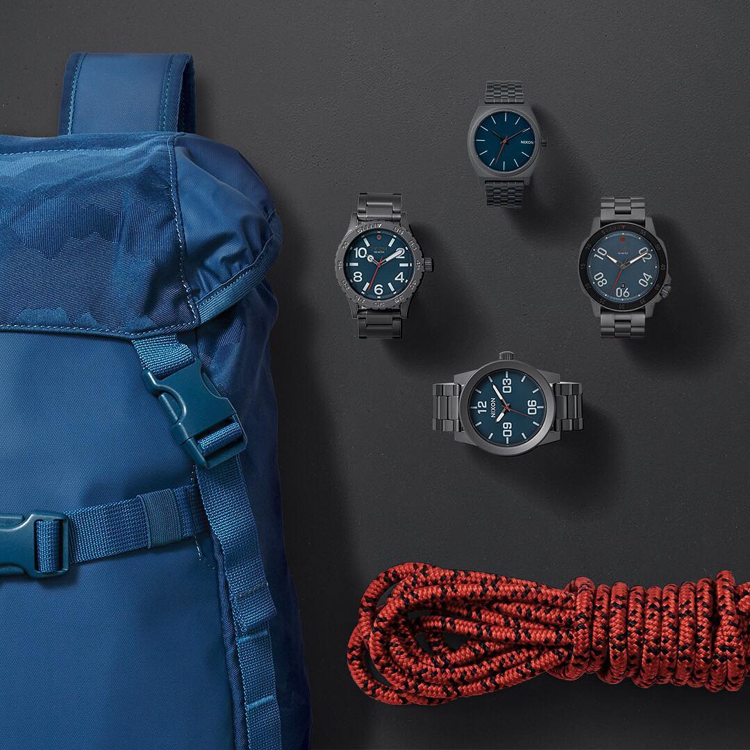 Northern excursion. The #TimberlineSummit Collection taps into the colors of towering peaks with crisp grays, icy blues and pops of red.