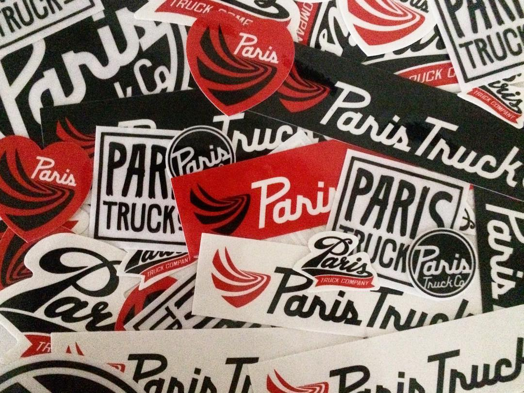 All stuck up! We got some stickers and are ready to get slappin! Wanna help? #paristrucks #parisstickers #slapstickers