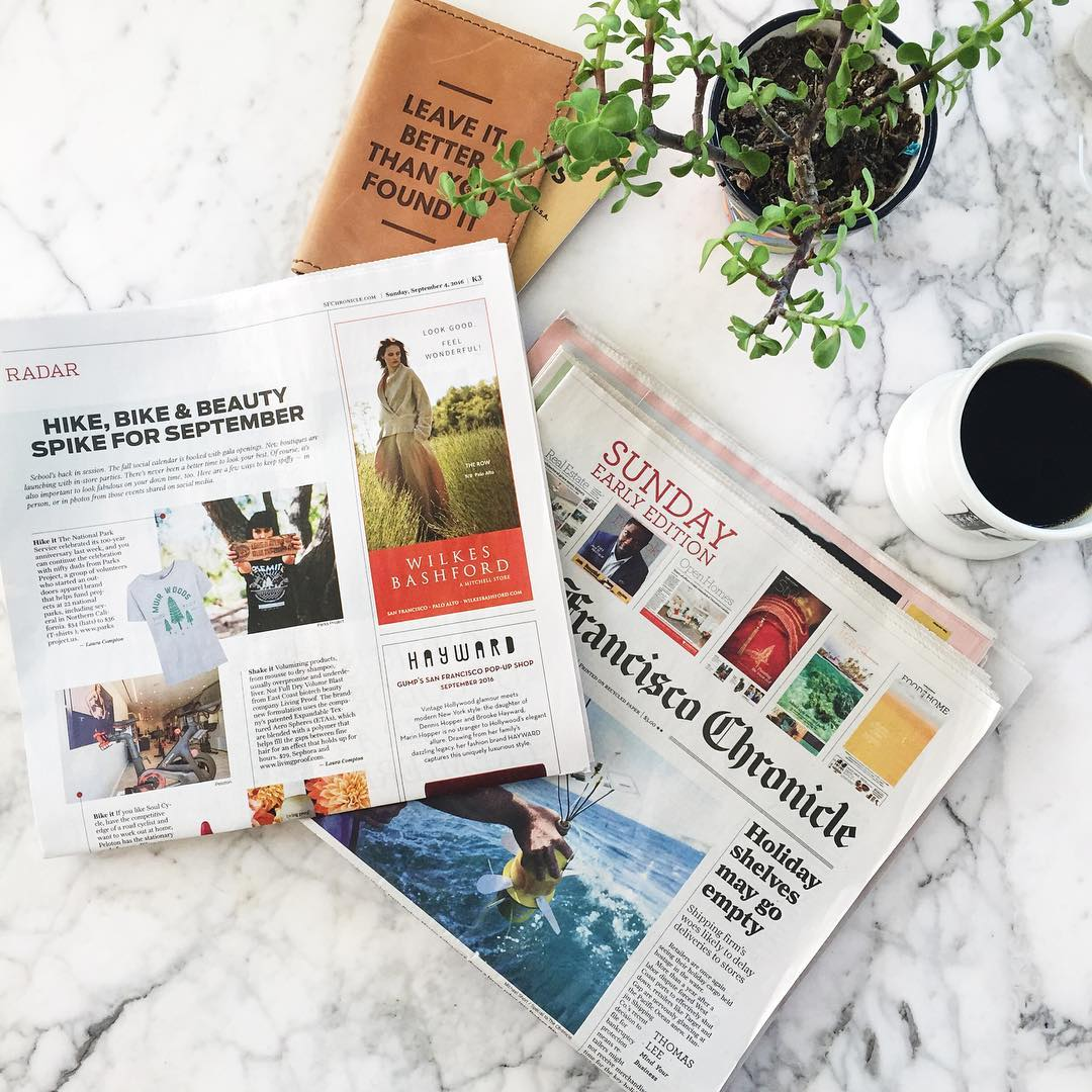 HIKE, BIKE & BEAUTY Did you spot us in the @sfchronicle style section on Sunday? #radparks #parksproject @sfchronicle_style