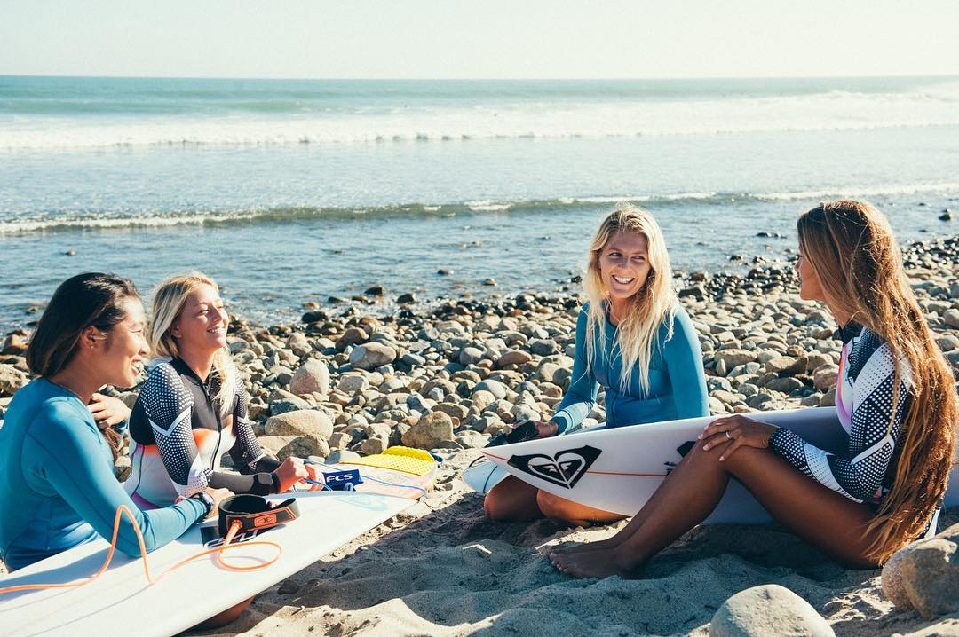 Time out with the team at Trestles #ROXYsurf