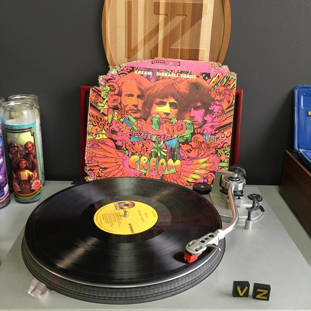 It's #TurntableTuesday! We are jamming some foundational tunes today with #Cream! || #VonZipper #SupportWildLife