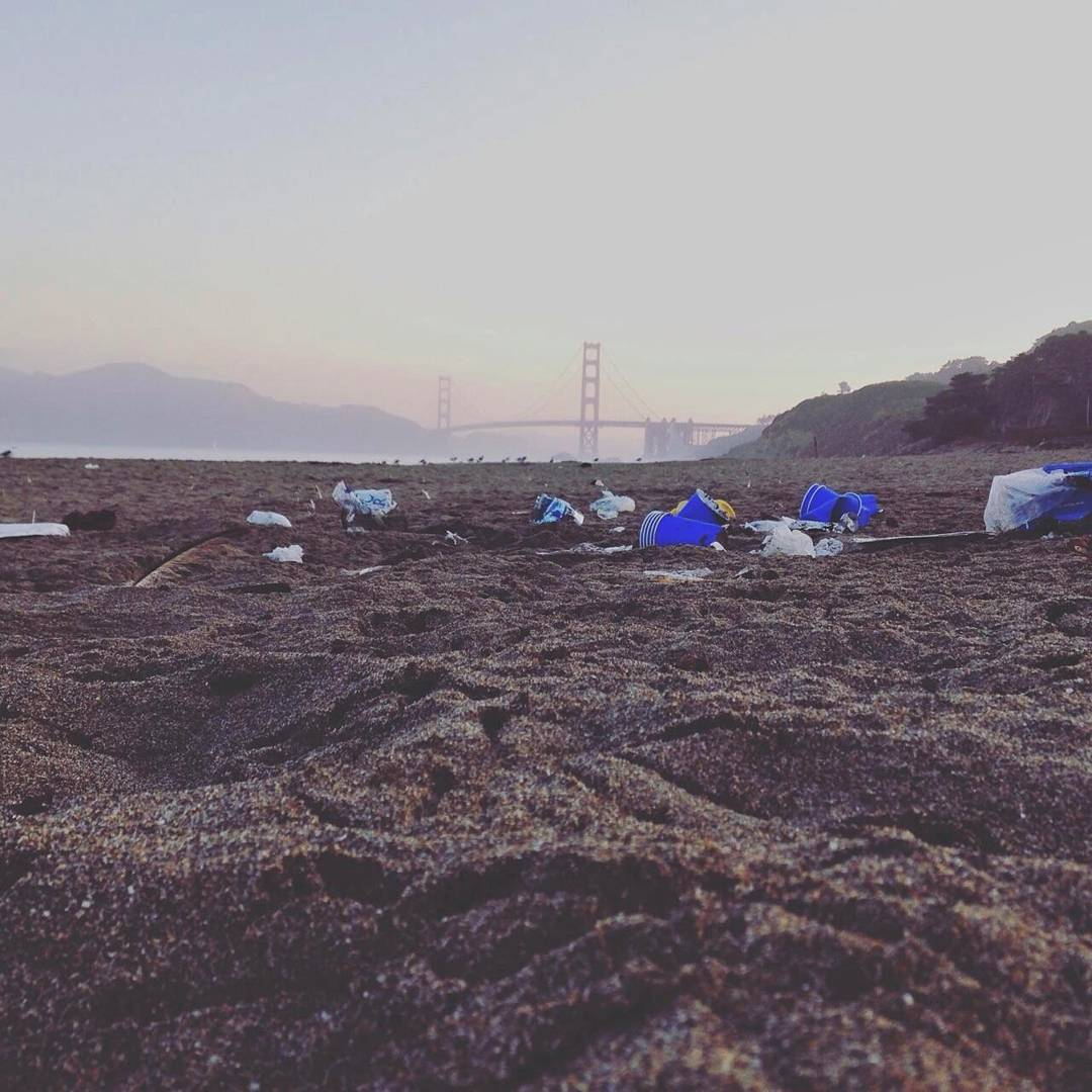 Calling all residents and visitors of #sanfrancisco! This isn't how #bakerbeach should look after a long weekend... If this makes you sick, come to the Surfrider SF Chapter Meeting tonight at Church of Surf @ 7 PM to help us change the way our...