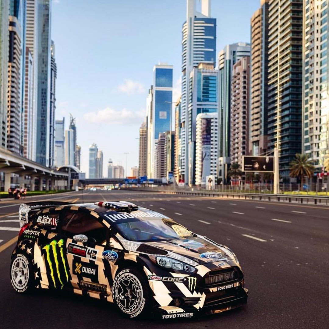 Throwback to that time HHIC @kblock43 shredded through the streets of Dubai in the RX43 with that ultra reflective livery poppin off! #GymkhanaEIGHT
