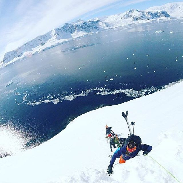 @tahomajillian in the bootpack line over the waters of Antarctica....bad ass!