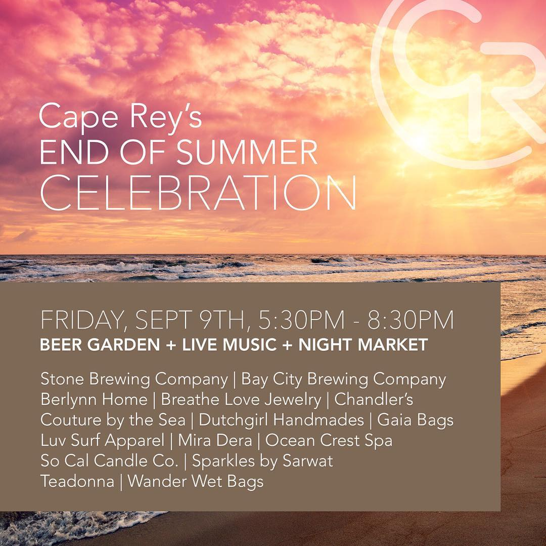 Cape Rey's End Of Summer Celebration! #party #endofsummer #celebration #funtimes #shopping  @capereycarlsbad