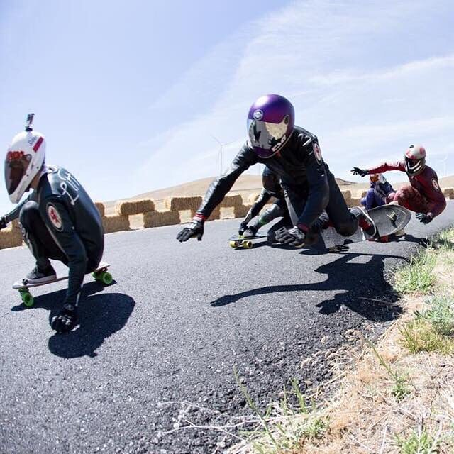 Team rider @steviedudemayne about to catch a brick at the infamous Freeride. #maryhill Wheelbase photo