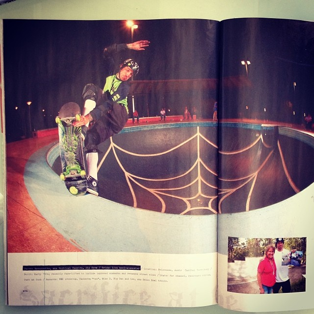 @navs5000 in the new @transworldskate mag. Full creature in oz article. #ripping #s1helmets