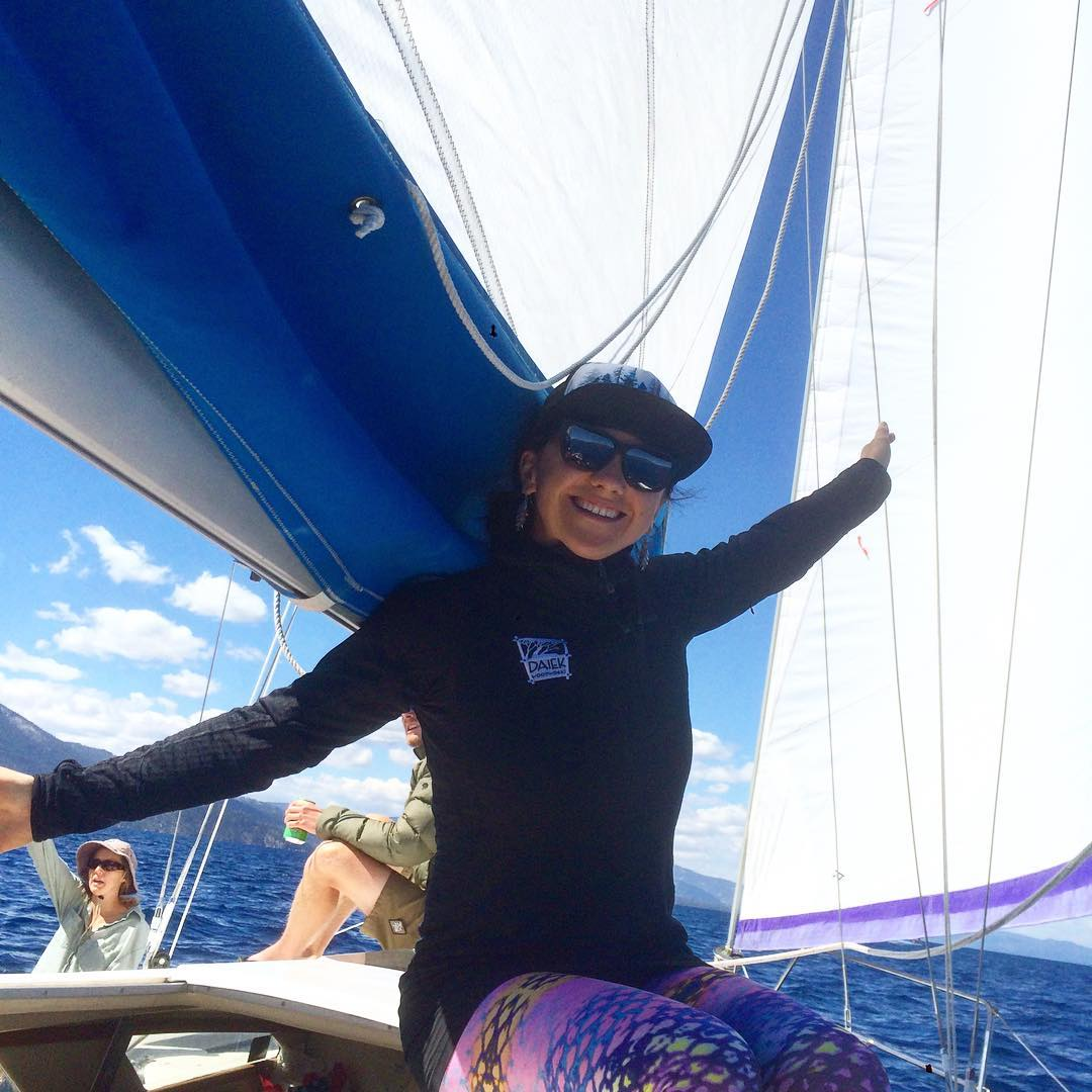 Tahoe Life! Spread your wings with gratitude! #laketahoe #sailing #friendship #partytime #winterisalmosthere @epicbar @skilaketahoeca @kirkwoodmtn @neversummerindustries @oakley @dakine