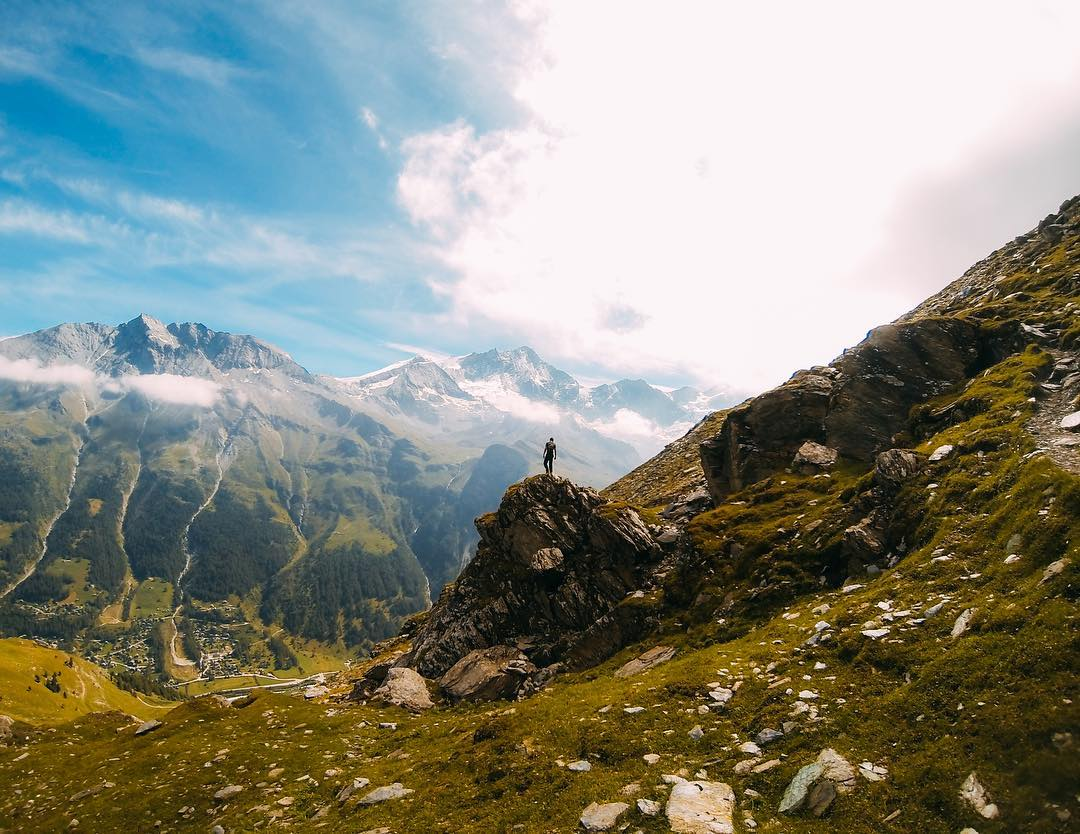 Photo of the Day! Hiking the #SwissAlps...simply stunning. #