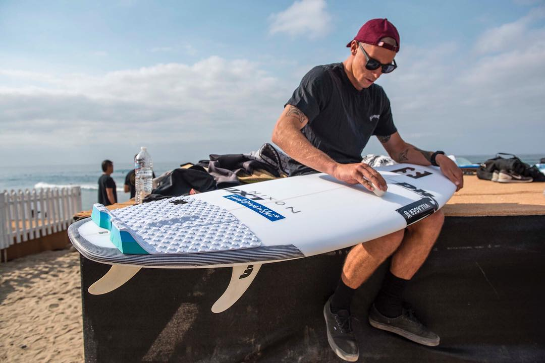Almost time. @jackfreestone getting ready for the #HurleyPro, about to get underway in our own backyard of Southern California. #Lowers #Trestles