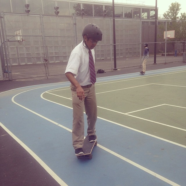 """Hey coach, I learned to tic tak at skate mentor this weekend check it out!"" #Skateboarding #Progress #Success"