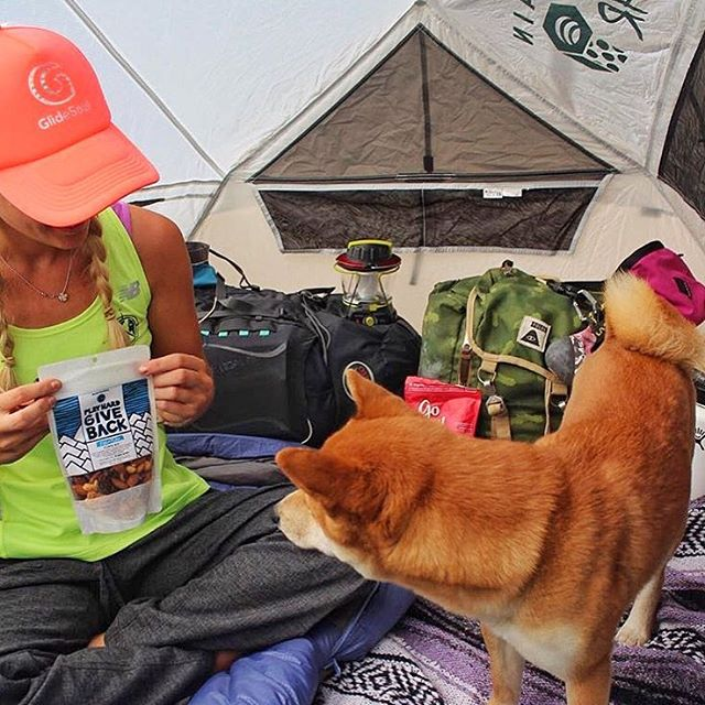 Camping snacks with your furry best friend!! #phgb #snackwithpurpose @carlyfries18