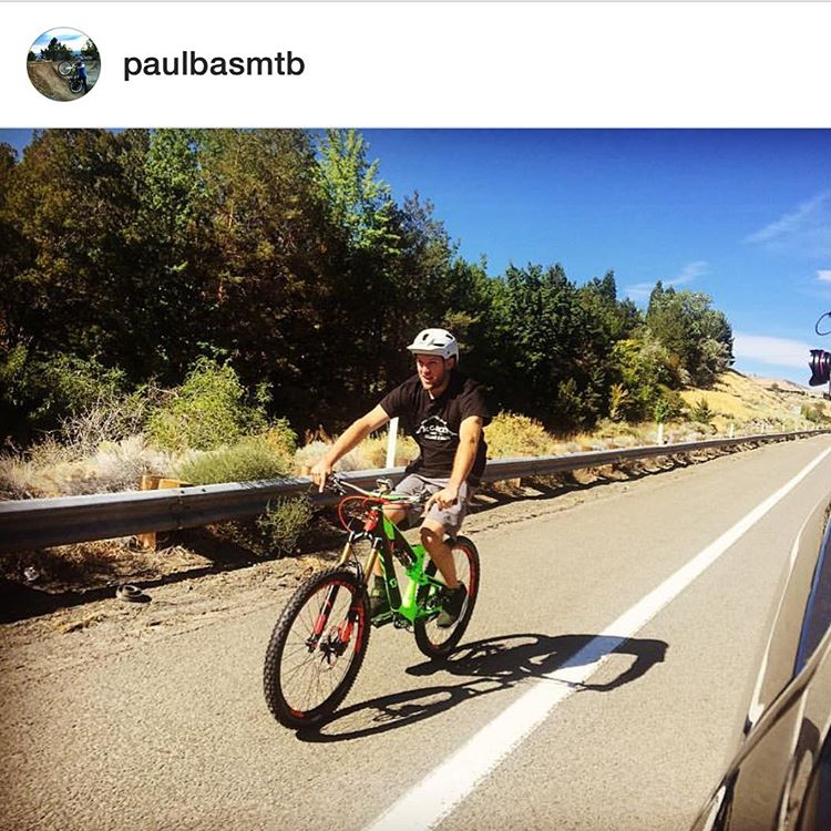 The legendary @paulbasmtb!!! Back in the saddle less than one year out from a paralyzingly back injury - HIGH FIVE Paul (& the epic team supporting him) & major CONGRATS, amazing Sir!! Team: @nicholemunk @thaismollet @spinenevada @birdlew & many others...