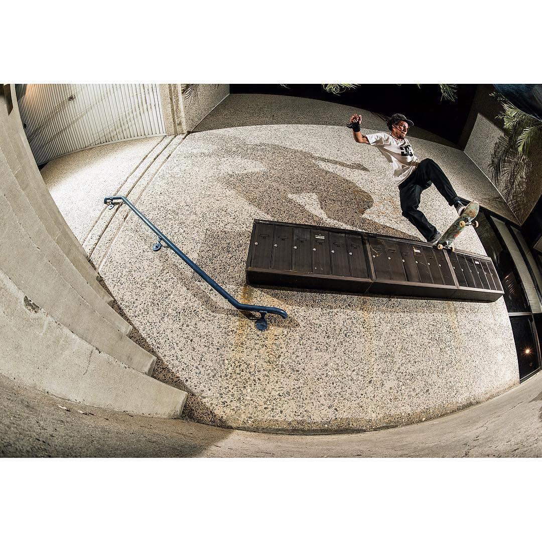 Happy birthday @josefskottjatta! Gap back tail from the pages of @thrashermag. Photo: @blabacphoto #DCShoes