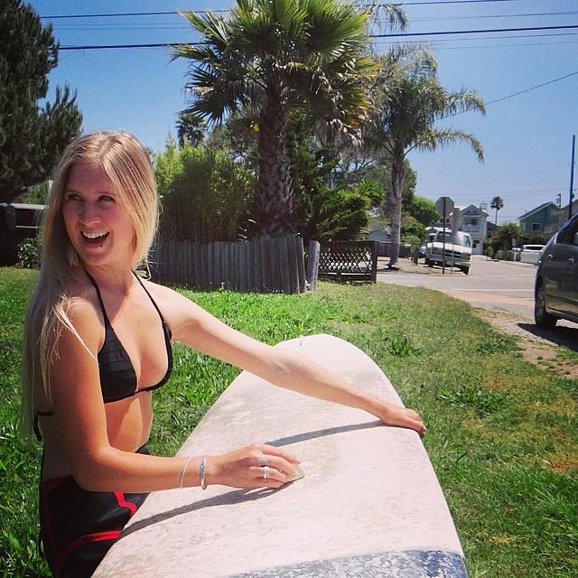 ~Surfing instead of working. Happy Monday~ #HotlineWetsuits #SantaCruz #Surfing #MondaysArntAlwaysBad