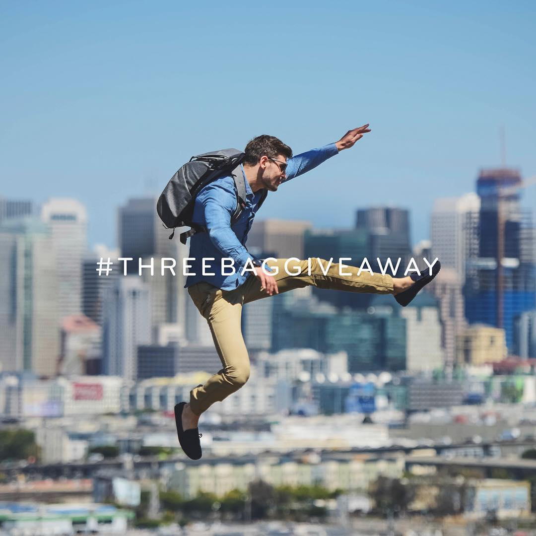 The #threebaggiveaway is underway and the entries are awesome so far! Enter for a chance to be one of three lucky followers that gets to pick out a new Peak bag.  1) Upload a picture to your Instagram feed that beautifully captures everyday life. Our...