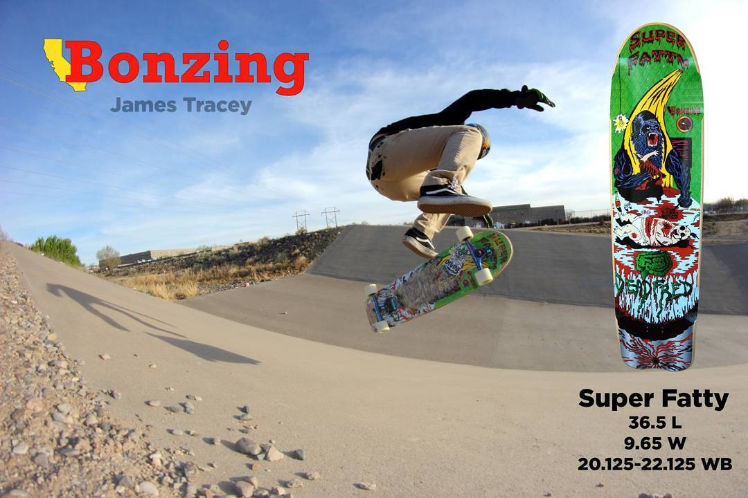 September Ad featuring Team rider James Tracey--@deadbear13 kick flipping the Super Fatty at the Bear!