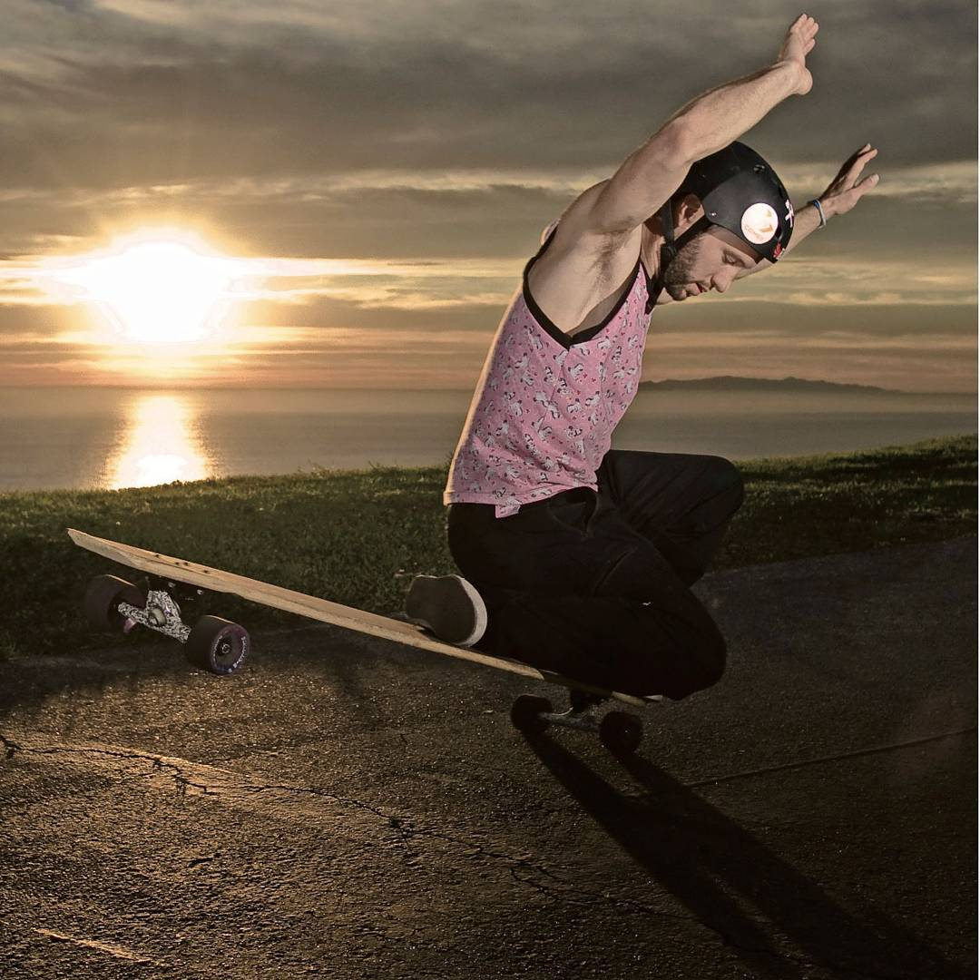 #TBT to @whoisadamcolton gracing the longboarding world with his picturesque style and well manicured armpits.  #LoadedBoards #AdamColton #LoadedDancer #Orangatang
