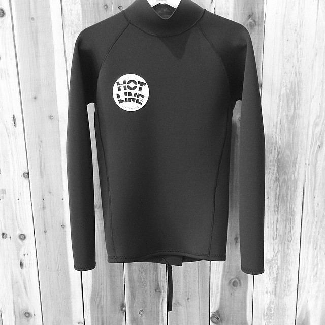 ~Custom circle logo flak jacket~ #HotlineWetsuits #SantaCruz #MadeinCalifornia #Custom #Local