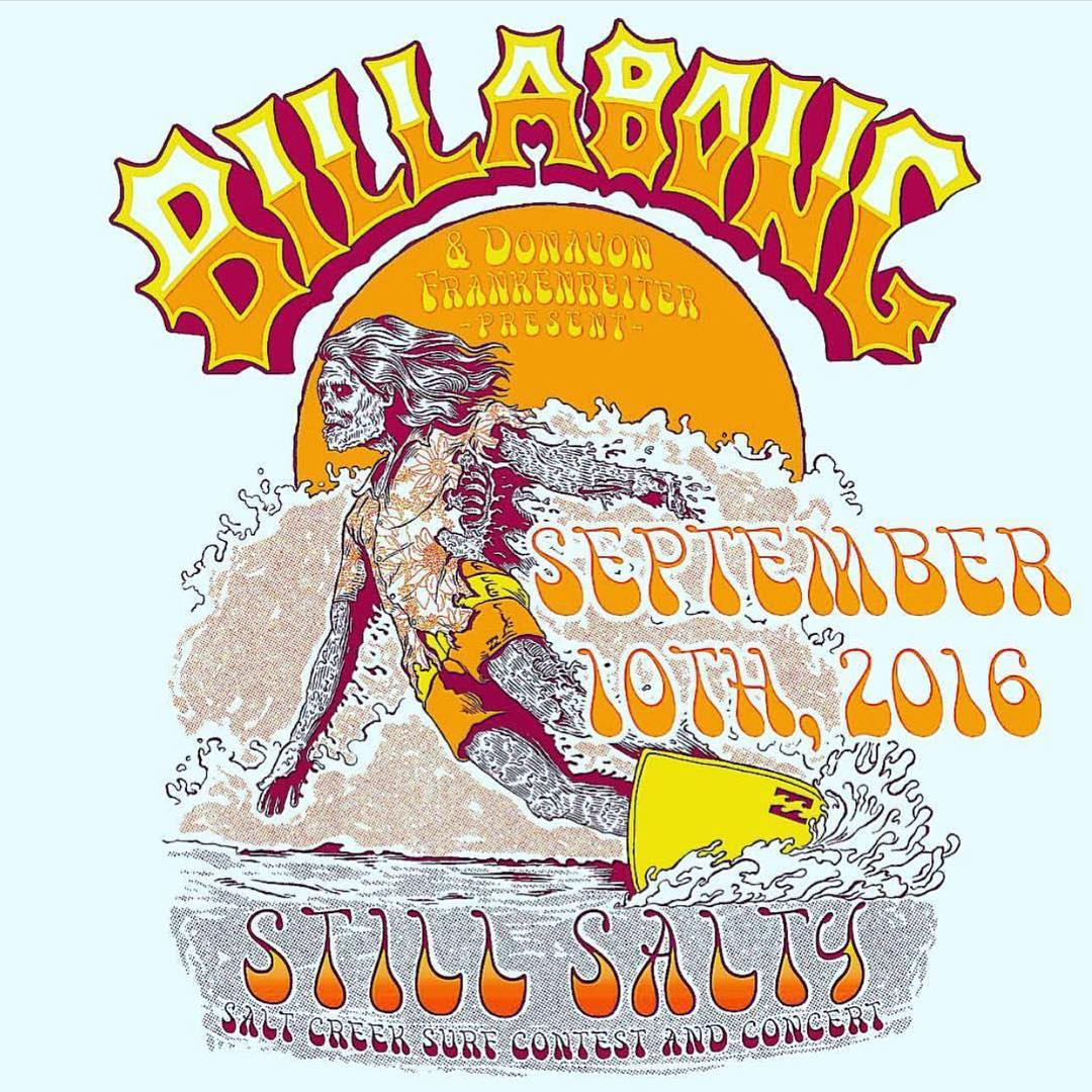 Come hang this Saturday, September 10th for #StillSalty at #SaltCreek with @donavon_frankenreiter. Good tunes, good vibes, surf contest, all for free!