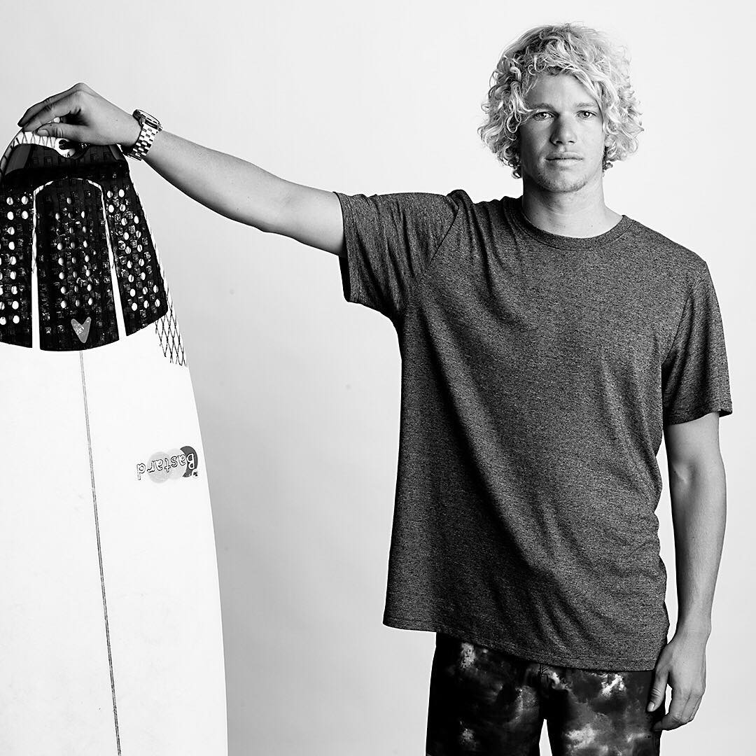 Your current number one surfer in the world. Stoked to see @john_john_florence compete in the yellow jersey this week at #Trestles. Photo by @blabacphoto. #HurleyPro