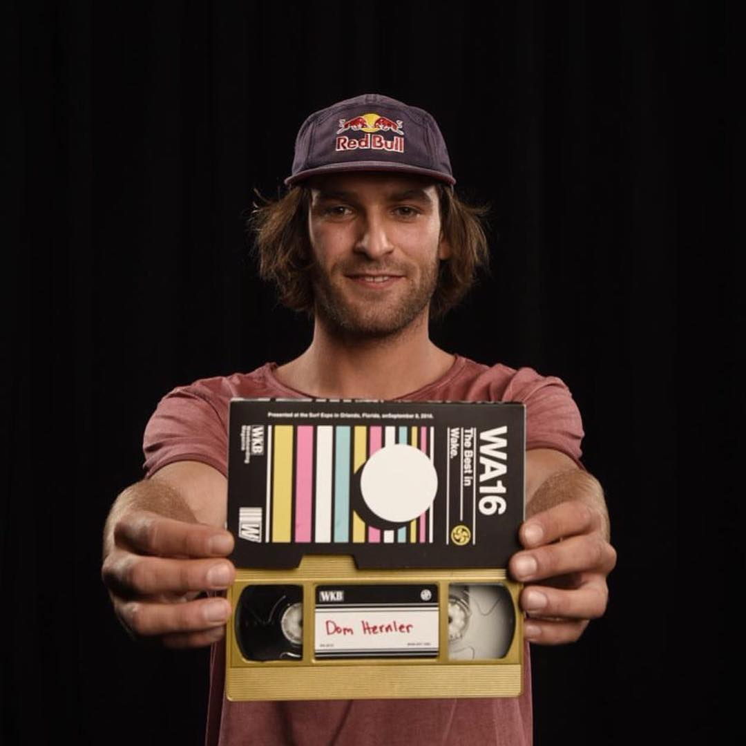 Our 2016 Rail Rider of the year, @domhernler! Well deserved! #2016railrideroftheyear #takeflight #fortifiedwithlakevibes #oneloveinwake #kinetikproject @wakeboardingmag