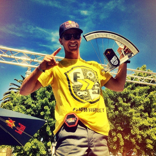 big ups to @addisonzawada for taking 1st at Redbull Ride N Style 2014. Huge shout out to all the  other riders who killed it today!!! #boombotix  #redbullridenstyle #fixie #redbull #destroy