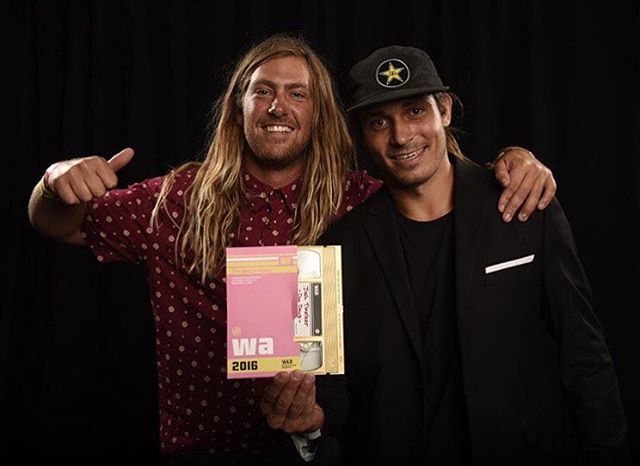 Huge congrats to our dynamic duo @joshtwelker and @trevermaur for winning the web video of the year at the @wakeboardingmag Wake Awards.  There're @alliancewake X-Games Real Wake video is unreal.  #hovenvision #xgames #realwake...