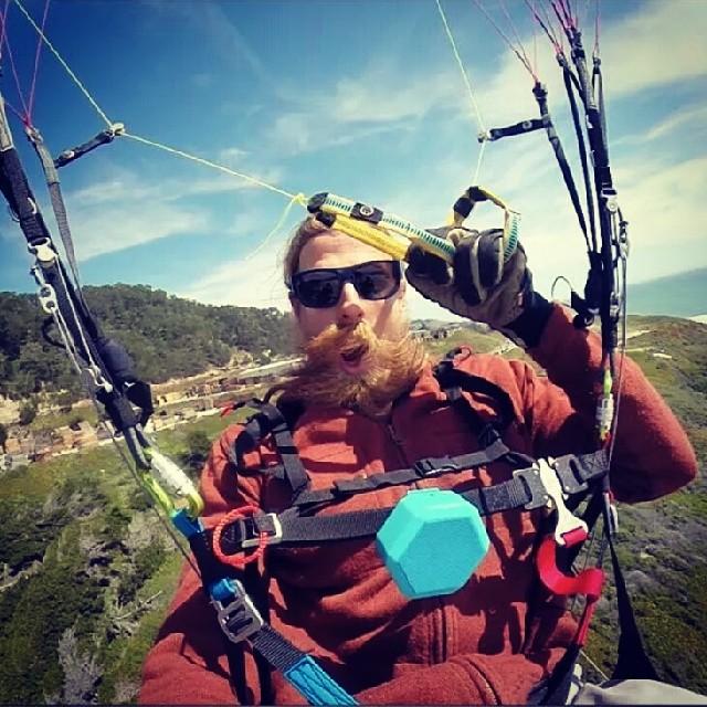 #GoPro athlete, Neil, spotted paragliding over #SantaCruz #hero3 #outdoor #lifestyle #boombotix
