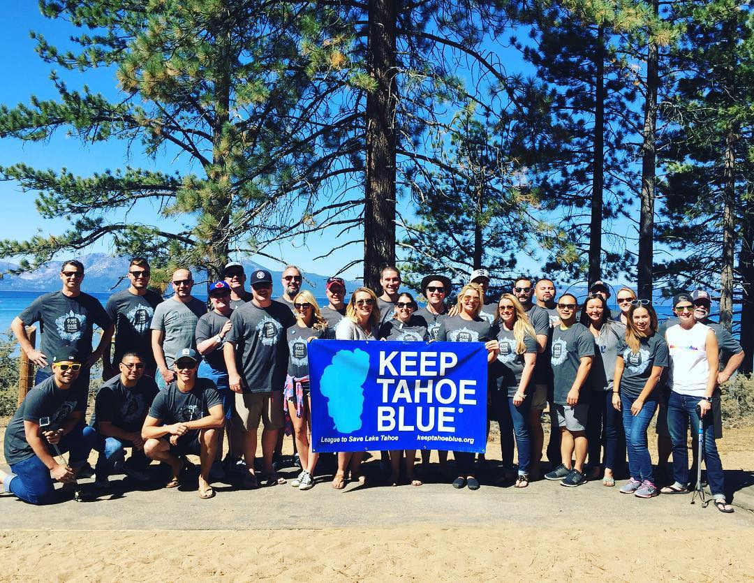 Thank you Team @millercoors for cleaning up our beaches! You Keep Tahoe Blue! #corporationsthatcare #keeptahoeblue #thankyou #millercoors #bluemoon