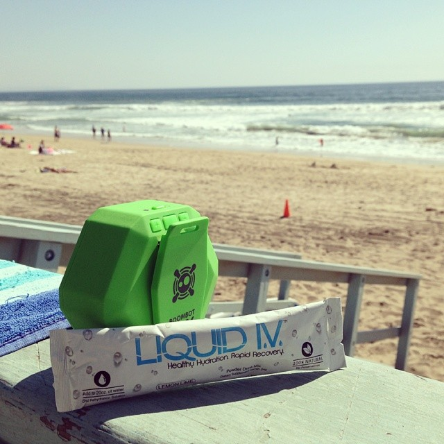 Sometimes you just got to #LIVitup . Shoutout to our friends over at @liquidiv for keeping us #hydrated #healthy #beach #boombotix