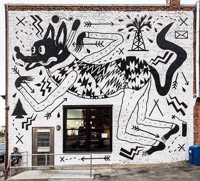 Complete mural by artist, @spencerkeetoncunningham at Pow! Wow! Worcester • Photo by: @mrjasperwong • SprATX was proud to sponsor @powwowworcester along-side: @powwowworldwide @1xrun @monsterenergy @actionwoo @worcesterwares @worcestermagazine...