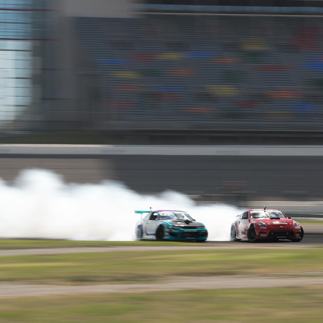Heater from @formulad TX brought to you by @geoffstoneback in the #370z and @alechohnadell in chase with the #s14!