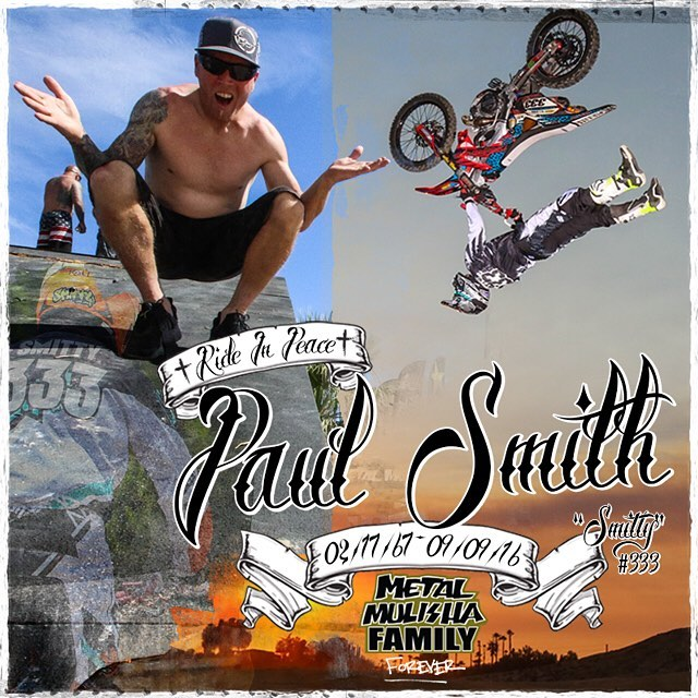Last night we lost a #FAMILY member in @PaulSmithFMX_333 doing what he loved