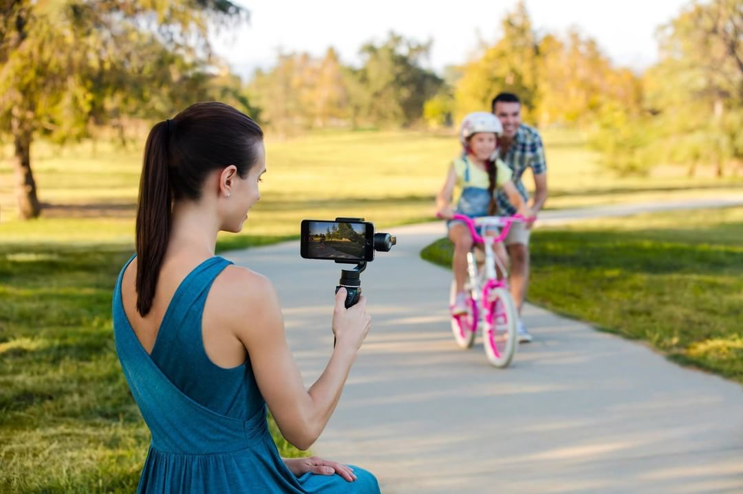 Your daughter's first bike ride. Capture life's moments in cinematic quality with the #DJI #OSMOMobile. #BeyondSmart