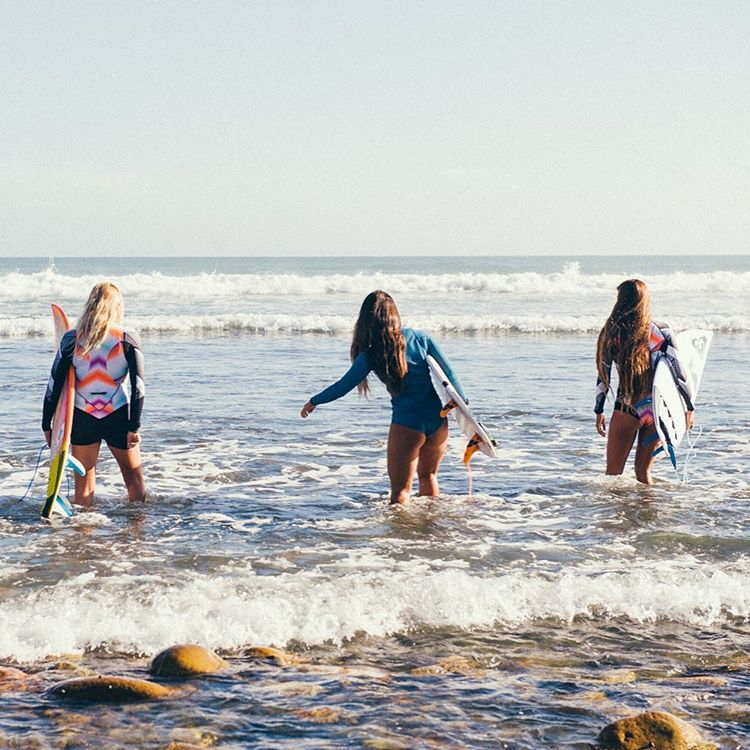 Rock hopping at Lower Trestles. Where are you heading out to this weekend? #ROXYsurf