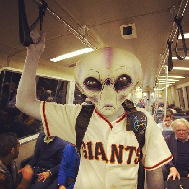 On the way to the #Giants game! #Sf #gogiants #bart #underground #boombotix