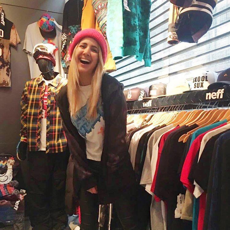 @NatiMelcon en el Showroom del Store de Olivos! #NeffArgentina #ForeverFun #Youreoneofusnow