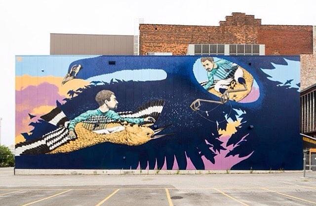 Mural by @rustamqbic at Pow! Wow! Worcester • Photo by: @mrjasperwong • SprATX was proud to sponsor along side: @powwowworldwide @powwowworcester @1xrun @monsterenergy @actionwoo @worcesterwares @worcestermagazine @thegriddistrict @homedepot...