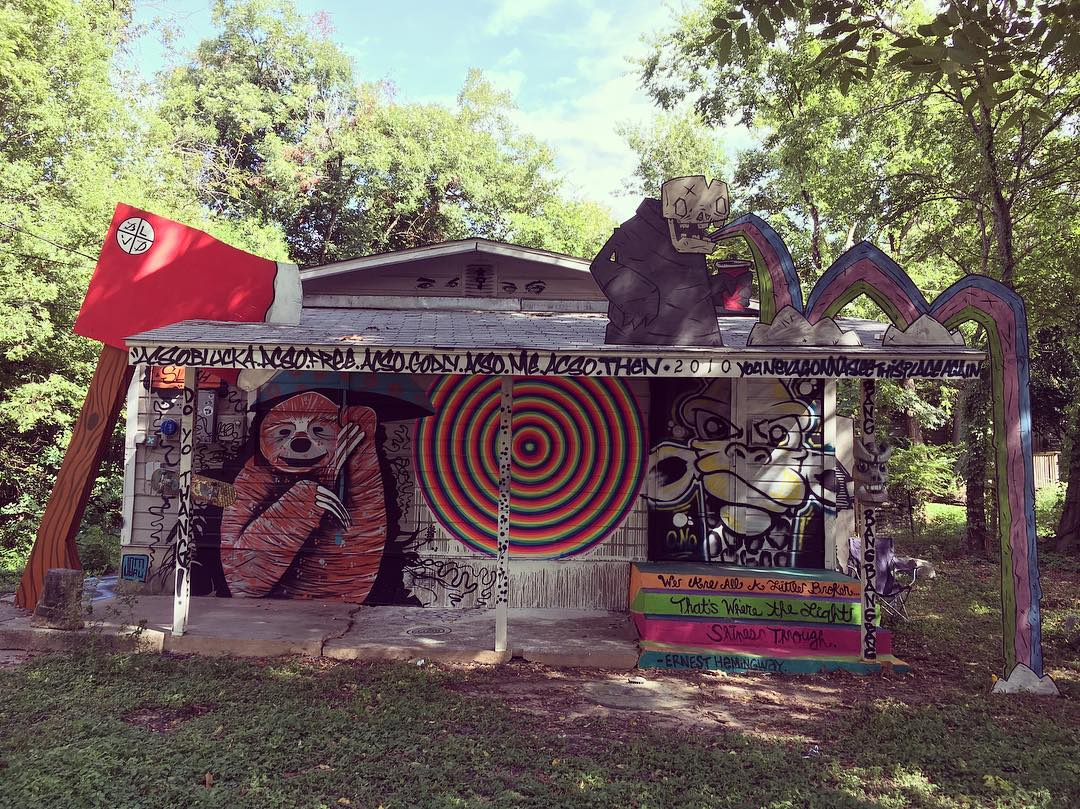 "In the good ol' ""Keep Austin Weird"" spirit, 20+ Austin Artists showers this old house with love at 2010 east 20th street for you all to come see for TODAY only from 12pm-7pm. • • Bring your family and your camera!  Help document the colorful side of..."